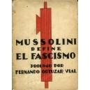 Mussolini define el Fascismo